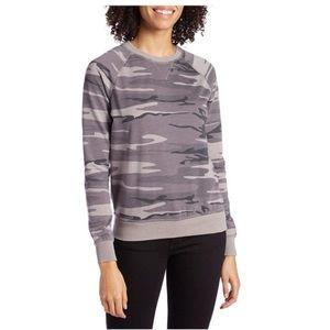 Z Supply Grey Camo Crew Neck Sweater - XS